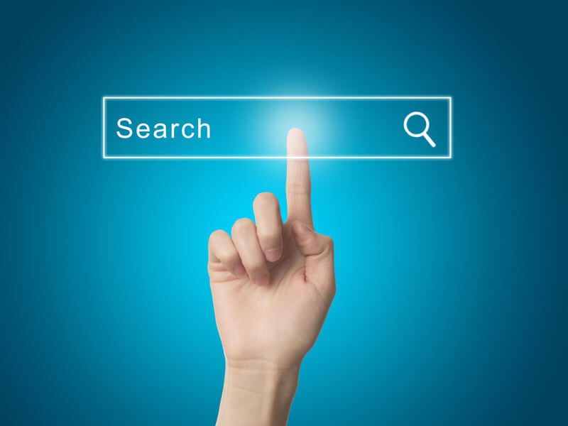finger using search engine